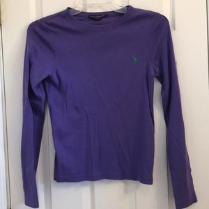 Polo Ralph Lauren Purple Long Sleeve Shirt